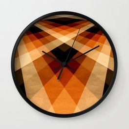 Autumn Groovy Checkerboard Wall Clock