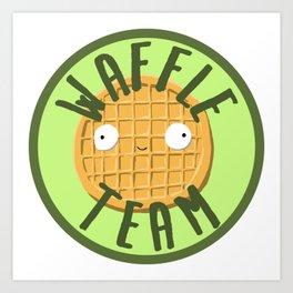 Waffle Team Art Print