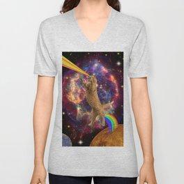 CAT SPACE  Unisex V-Neck