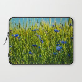 Cornflowers in the field from childhood Laptop Sleeve