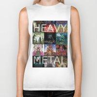 heavy metal Biker Tanks featuring Heavy Metal by Michael Keene