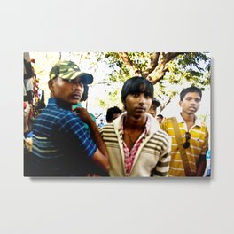 Mumbai Crowds - Fashion Street - 13 Metal Print