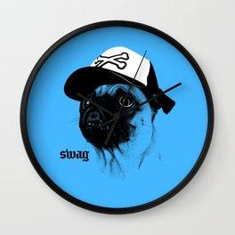 Pug Swag Wall Clock