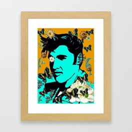Flowers For The King of Rock and Roll Framed Art Print