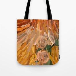 Weaved Flowers Tote Bag
