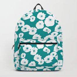 Teal Poppy Field Backpack