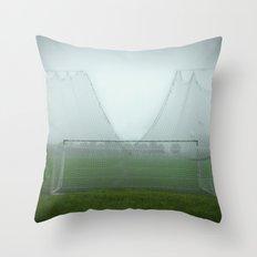 Match will be held rain or shine Throw Pillow