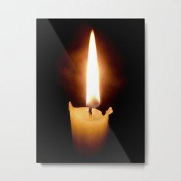 Candle Metal Print