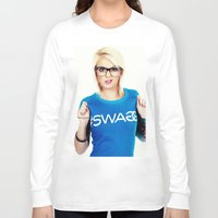 swag Long Sleeve T-shirts featuring Swag by Taylor Brynne-Model