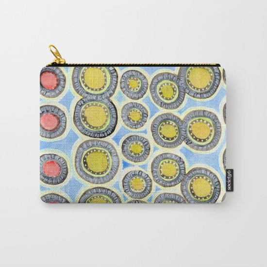 Yellow and Red Sunshine Pattern Carry-All Pouch
