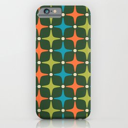 Mid Century Modern Star Pattern 934 iPhone Case