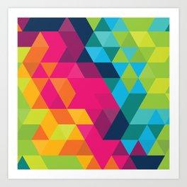 Fragmented Art Print