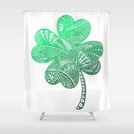 Lucky 4-Leaf Clover - LaurensColour Shower Curtain