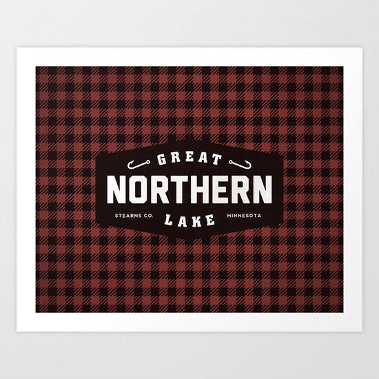 Great Northern Lake Art Print