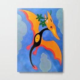 Winged Lizard Metal Print