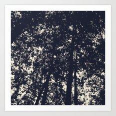 Silhouette skies Art Print