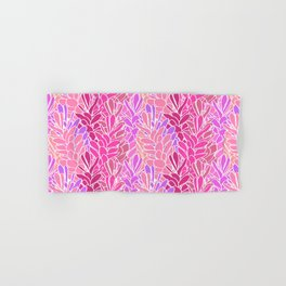 Tropical Ginger Blossom Vines in Pink + Coral Hand & Bath Towel