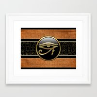 egypt Framed Art Prints featuring Egypt by Brigitta