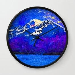 Serenity Boating On Lake Dillon Wall Clock