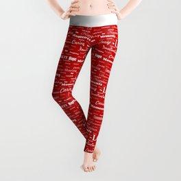 Love is Red & White Leggings