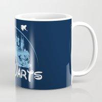 hogwarts Mugs featuring HOGWARTS by Bilqis