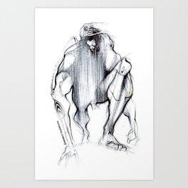 Futuristic Cyborg 1 Art Print