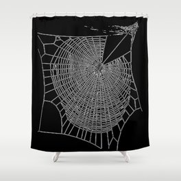 A Large Illustration Of A Spider's Web Shower Curtain
