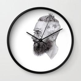 Bearded Rose Wall Clock