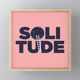 happy solitude Framed Mini Art Print