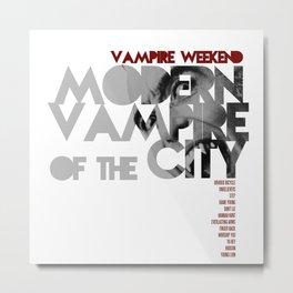 Vampire Weekend - Modern Vampires of the City / Album Cover Art LP Poster  Metal Print