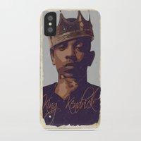 kendrick lamar iPhone & iPod Cases featuring King Kendrick by GerritakaJey