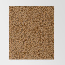 Dark leopard animal print Throw Blanket