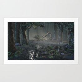 Somber Swampland Art Print