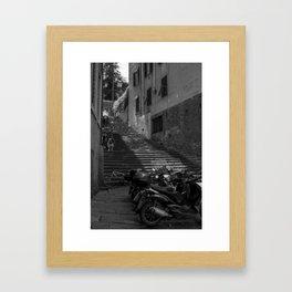 The Short-cut Home: Vespas Framed Art Print