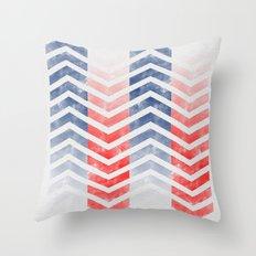 Chevron in Red White & Blue Throw Pillow