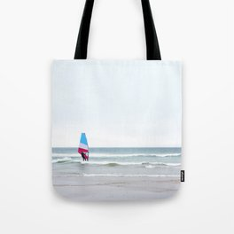 Windsurfer with Red White and Blue Tote Bag