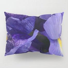 Purple Iris Flowers Close-Up Fine Art Photo Pillow Sham