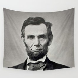 Portrait of Abraham Lincoln by Alexander Gardner Wall Tapestry