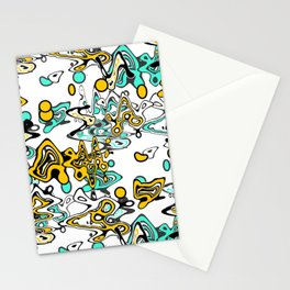 Multicolored abstract pattern Stationery Cards
