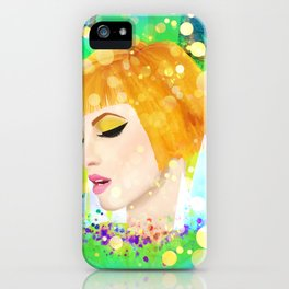 Digital Painting - Hayley Williams iPhone Case