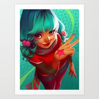 bubblegum Art Prints featuring Bubblegum by loish