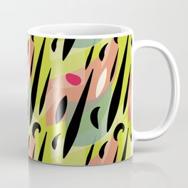 Splatter Burn on Neon Chartreuse Coffee Mug