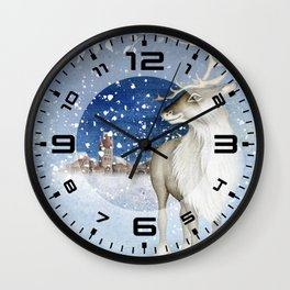 Christmas vintage deer #1 Wall Clock