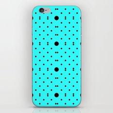 Big & Small Polkas - Cyan/Black iPhone & iPod Skin