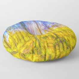 The Primeval Forest Floor Pillow