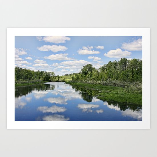 An Afternoon By The River Art Print
