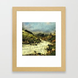 Mill Valley Stream Roar Framed Art Print