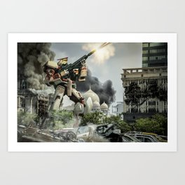 Astray Shooting Art Print