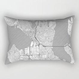 Seattle Map Line Rectangular Pillow