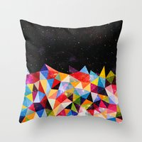 Throw Pillows featuring Space Shapes by Fimbis